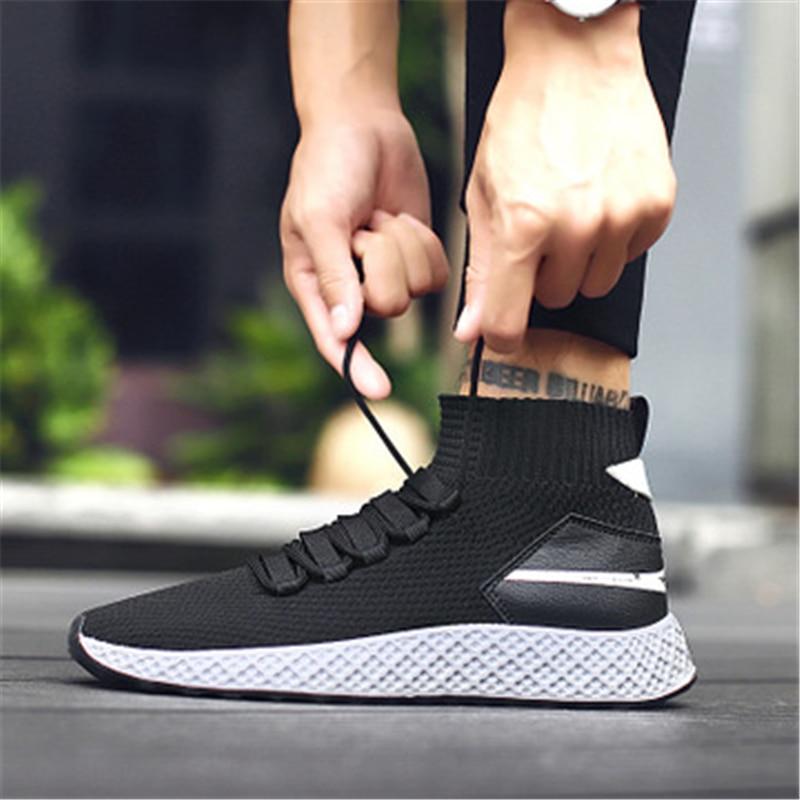 À Lacets black black En Sneakers Hommes Mâle Casual Lumière Noir Mocassins Mode Gray Red Chaussures Plein Confortable Respirant Air Sport 02a xwEtpngF