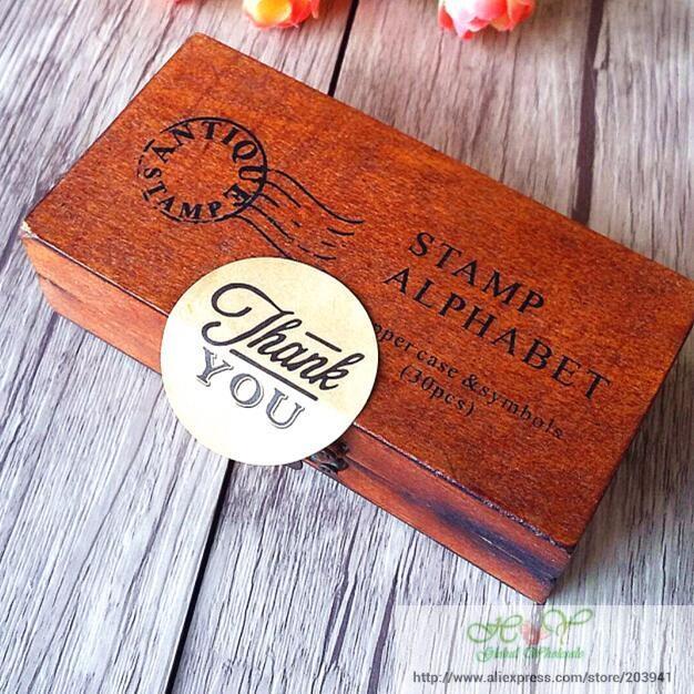 Купить с кэшбэком 90pcs/lot Zakka Handmade 9 Different 'THANK YOU' Vintage Kraft Paper Circle Seal Sticker Round Paper DIY Gift Packaging Label
