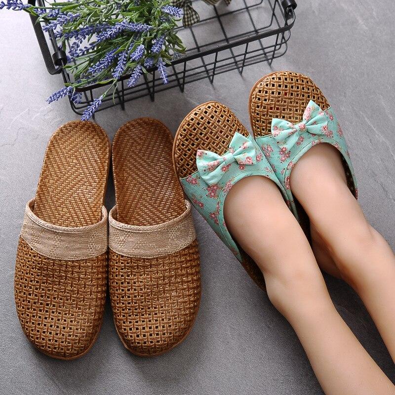 f7939bb1f82c 2019 tejido zapatillas mujeres zapatos de verano Zapatos casuales de mujer  planos de las señoras de