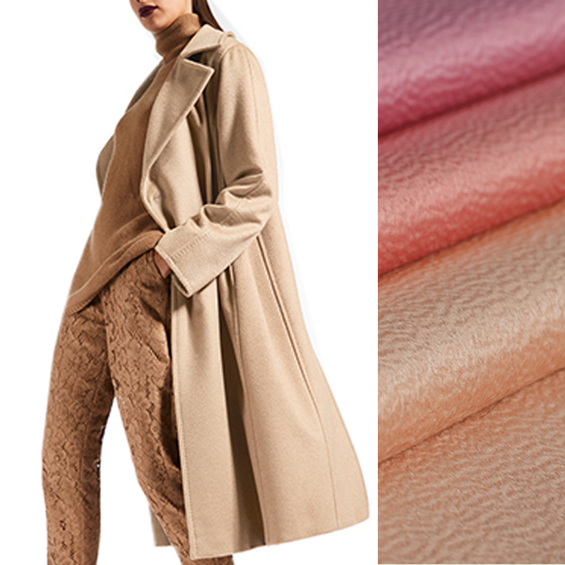 150CM Wide 580G/M Weight Thick Solid Color Water Wave Silk Wool Fabric for Autumn Winter Warm Overcoat Outwear Jacket DE827150CM Wide 580G/M Weight Thick Solid Color Water Wave Silk Wool Fabric for Autumn Winter Warm Overcoat Outwear Jacket DE827