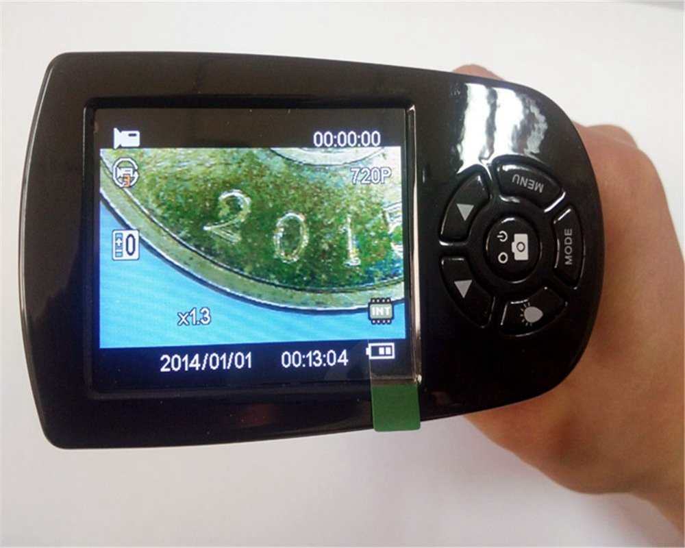 Hordozható 20x-500x 720P / 1080P digitális LCD képernyő USB video - Mérőműszerek - Fénykép 4