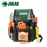 JAKAH 2018 New Electrician Waist Tool Bag Belt Tool Pouch Utility Kits Holder With Pockets Free Shipping