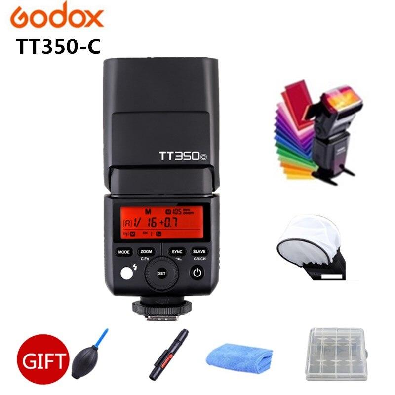 Godox Mini TT350 Flash TT350C 2.4G TTL GN36 HSS Caméra Flash Flash X1T Déclencheur Pour Canon 7D 810D 200D 800D 700D 70D 60D