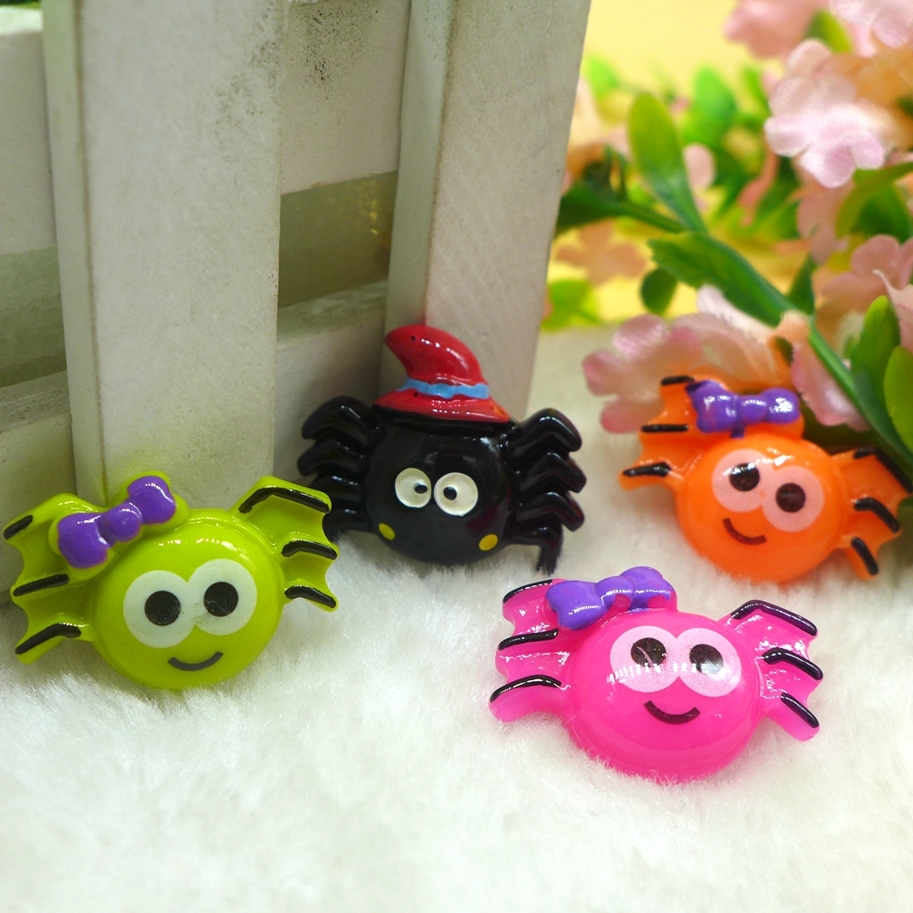 10pcs halloween spider flatback resin cabochon embellishment diy accessories scrapbooking crafts for decoration - Religious Halloween Crafts