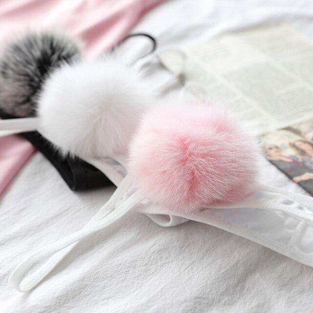 Rabbit Tail Thong  2