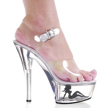 Show skinny clear with attractive trend trend sandals 15 cm thick tremendous stilettos set-up for girls's footwear
