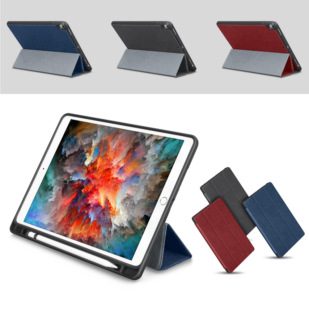 все цены на For iPad Pro 10.5 Case PU Leather Slim Smart Cover With Pencil Holder Auto Sleep/Wake up For Apple iPad Pro 10. 5