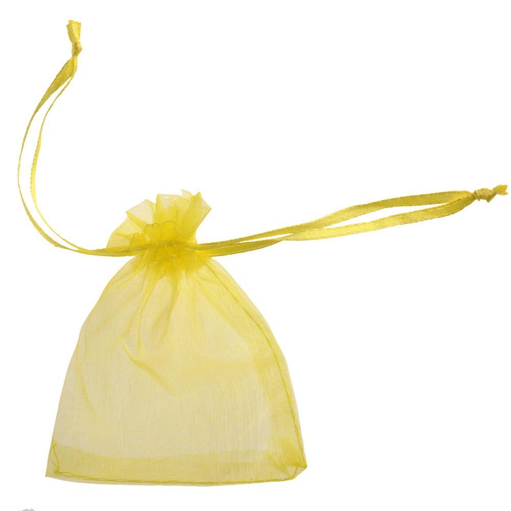 Pearl Yarn Bag Wedding Candy Bag /accessories Bag Yellow