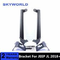 52 Mounting Bracket For Jeep Wrangler JL 2018 2019 LED Work Light Bar Lower Corner Brackets 52inch Metal Upper Windshield