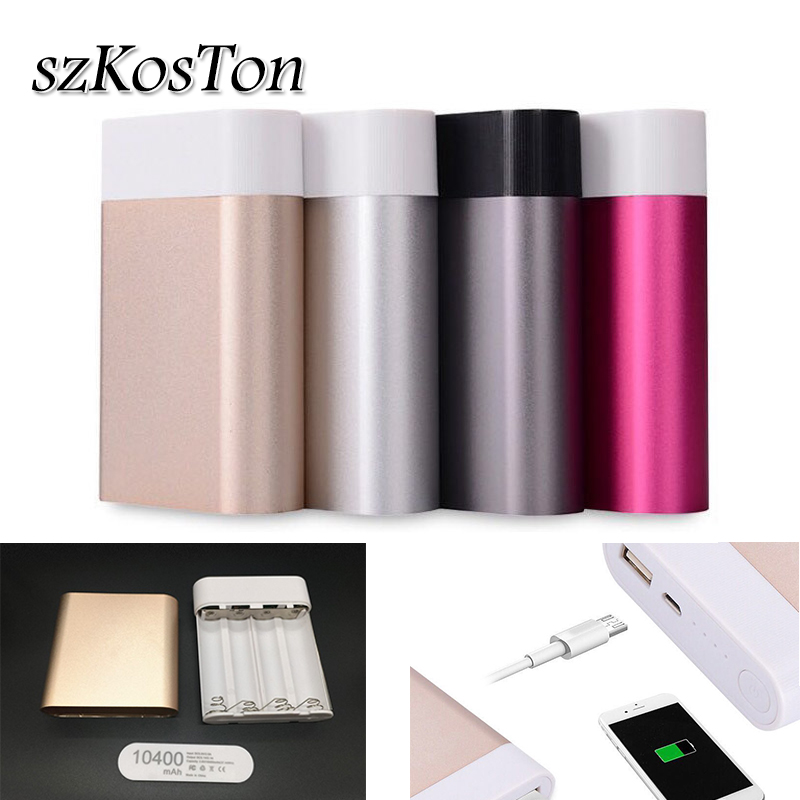 Rechargeable 4x18650 Battery DIY Power Bank Box Holder