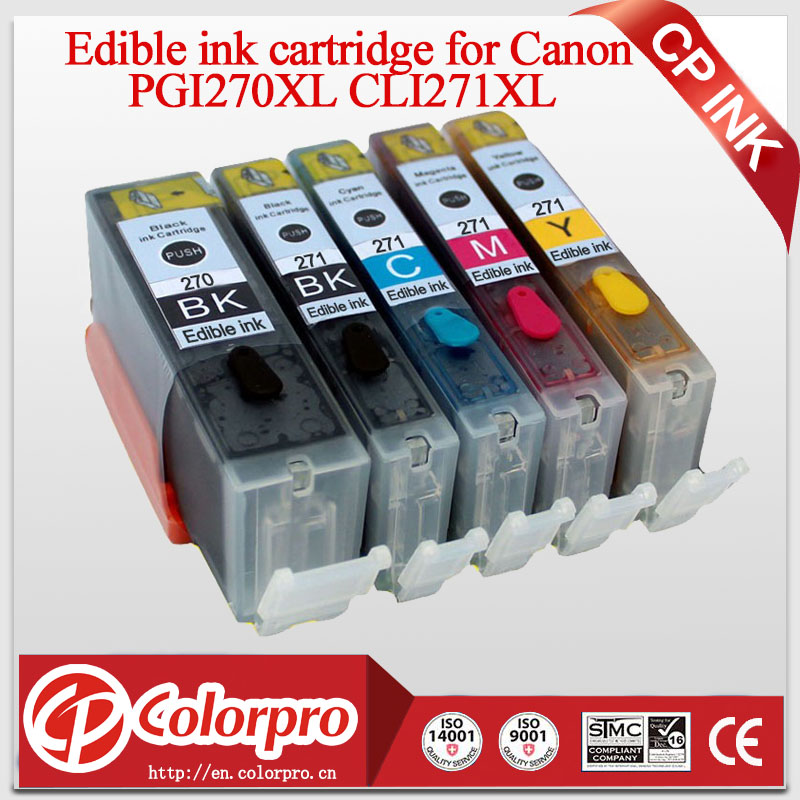 CP INK 5PK ehető tintapatron PGI270 CLI271 Canon PIXMA MG7720 MG6820 - Irodai elektronika - Fénykép 1