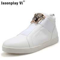 Jasonplay Vi 2017 Fashion New Brand Personality Men Rock Casual Dance Shoes Comfortable High Top Casual