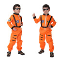 Kids Astronauts Costume Children's Halloween Costume Preschool Stage Performance for The Astronauts Clothing Spacesuit