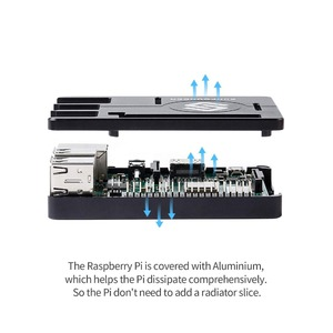 Image 2 - SunFounder Raspberry Pi 3B+, 3, 2, 1B+ Enclosure Metal Case with Heat Dissipation Silica Pad Raspberri pi 3 B+ Case