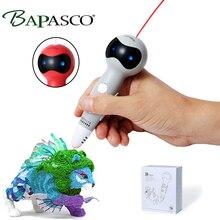 BAPASCO Low Temperature Robot Voice Broadcast 3D Pen 1.75mm PCL Filament ,Wireless 3D Drawing Pen for Kids Power Bank Charger цена