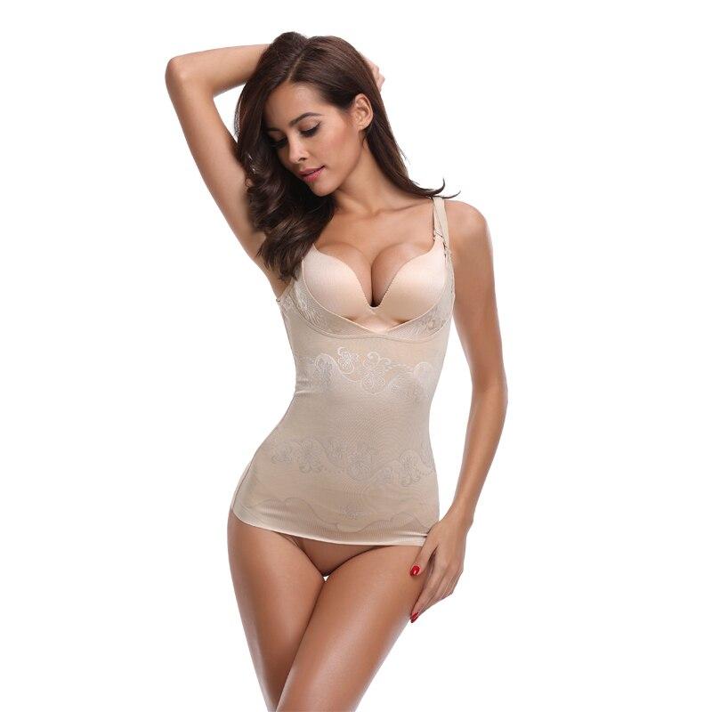 f93dfffe3290d Miss Moly Fashion Women Sexy Tempting Strap Compression Shapewear Sleepwear  Shaper Slim Top Underbust Underwear Black Beige-in Tops from Underwear ...