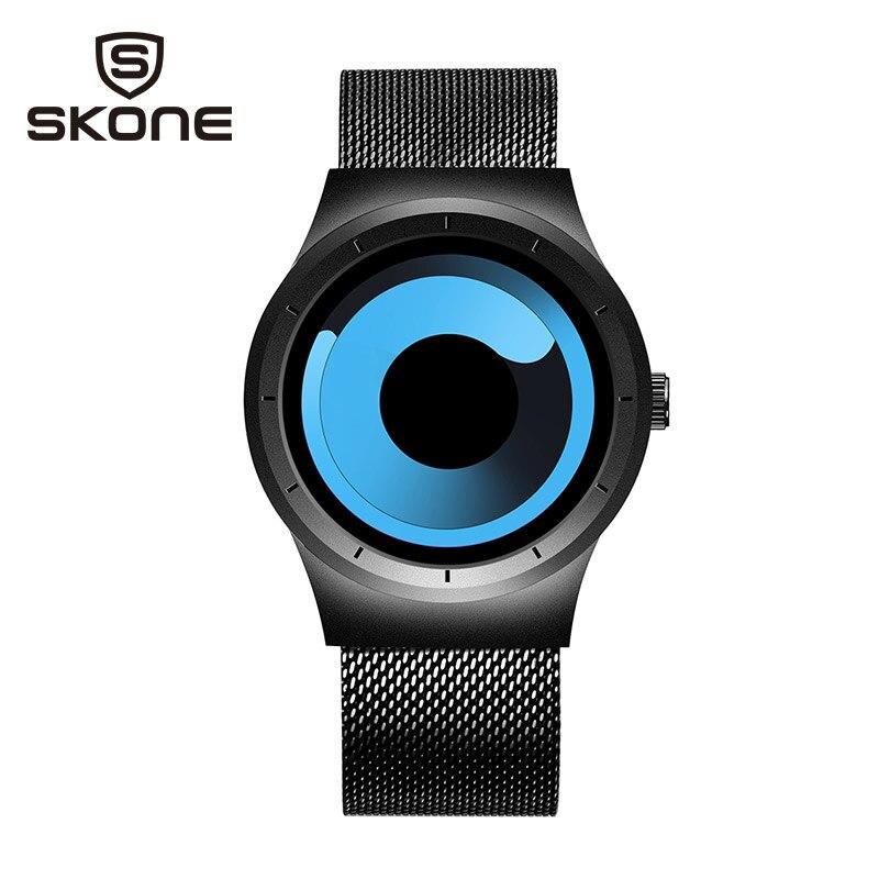 SKONE Creative Sport Watch Men Brand Luxury Mens Quartz Wrist Watch Fashion Stainless Steel Waterproof Watches Relojes Hombre
