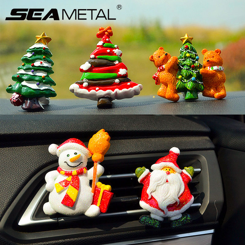 Christmas Gift 2018 Air Freshener Car Ornament Santa Claus Christmas Tree Xmas Decoration Perfume Clip Diffuser Auto Accessories
