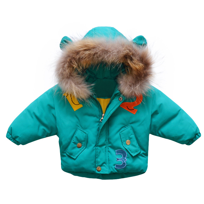 Winter New Brand Kids Korean Cotton-padded Clothes 2-6y Baby Girls And Boys Leeter Parkas Outerwear Fashion Cartoon Hooded COats какой роутер лучше для дома отзывы
