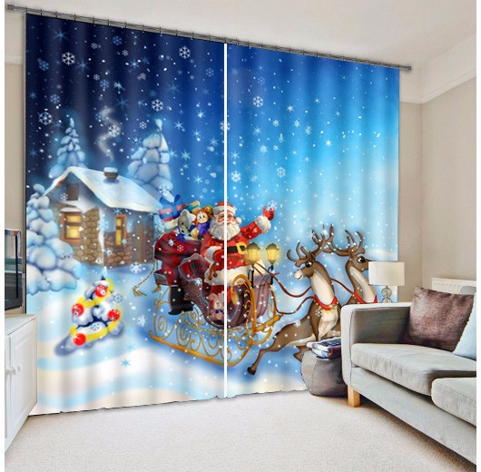 Curtains Ideas christmas curtain fabric : Online Get Cheap Christmas Window Curtains -Aliexpress.com ...