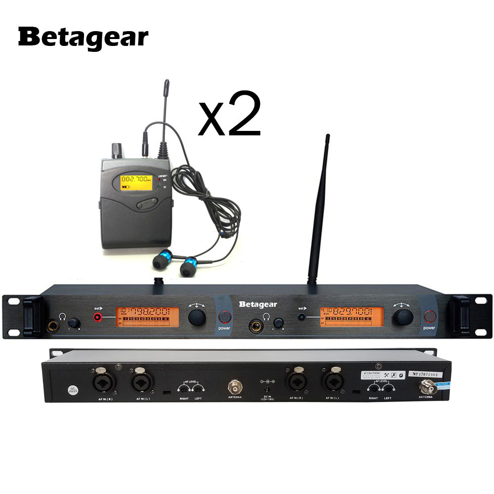 betagear free shipping sr2050 professional monitor wireless systems 2 receivers wireless in ear. Black Bedroom Furniture Sets. Home Design Ideas