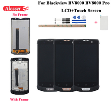Alesser 1920x1080 IPS Blackview BV8000 BV8000 프로 LCD 디스플레이 + 터치 스크린 프레임 5.0 인치 도구 + 강화 유리