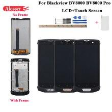 Alesser 1920x1080 IPS pour Blackview BV8000 BV8000 Pro écran LCD + écran tactile avec cadre 5.0 pouces avec outils + verre trempé