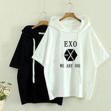 bts exo korean style got7 white t shirt t shirt tshirt tops summer rock hipster hip