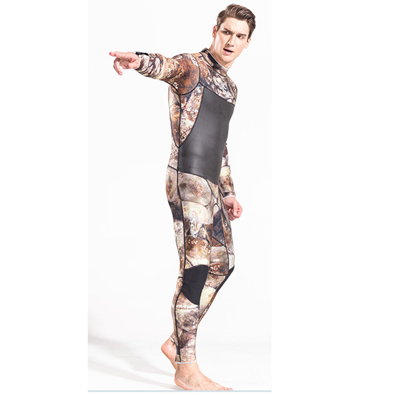 Camo Wetsuits Mens 3mm with Super stretch for Diving Snorkeling Swimming Freediving Full Suit