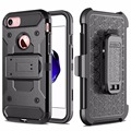 Keysion Case for Apple iPhone 5S SE 5 S PC + Silicone Military Anti Shock Belt Clip Strap Cover For iPhone5s Heavy Duty Cover