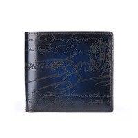 TERSE производитель ручной работы кожа короткий мужской бумажник Высокое качество 4 цвета короткий кошелек гравировка Роскошный деловой коше