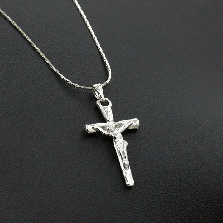 Jesus Cross Necklace Jewelry Pendant Accessories Chain Necklace