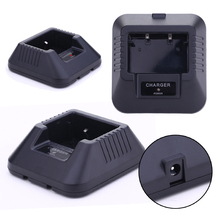Li ion Battery Charger Adapter with Charging Indicator PTT Radios Charge Docking Station for BaoFeng UV 5R Series Walkie Talkie