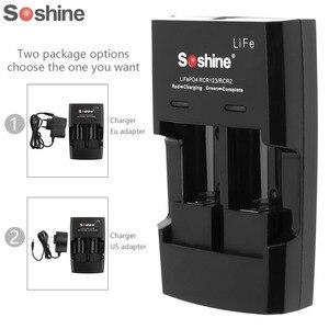 Image 1 - Soshine S5 2 חריץ RCR 123 CR2 16340 17355 ליתיום סוללה מטען קלט מתח AC 100 ~ 240V 50/60 HZ DC 12V