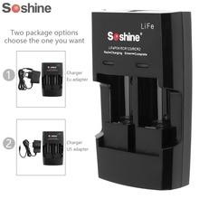 Зарядное устройство для литиевых батарей Soshine S5, 2 слота, RCR 123 CR2 16340 17355, входное напряжение 100 ~ 240 В переменного тока, 50/60 Гц, 12 В постоянного тока
