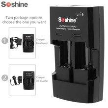 Soshine S5 2 Slot RCR 123 CR2 16340 17355 شاحن بطارية ليثيوم الجهد المدخلات التيار المتناوب 100 ~ 240 فولت 50/60 هرتز تيار مستمر 12 فولت