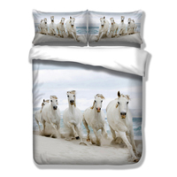 White horse animal 3d printed bedding set twin full queen king size more space kids gift comforter duvet quilt