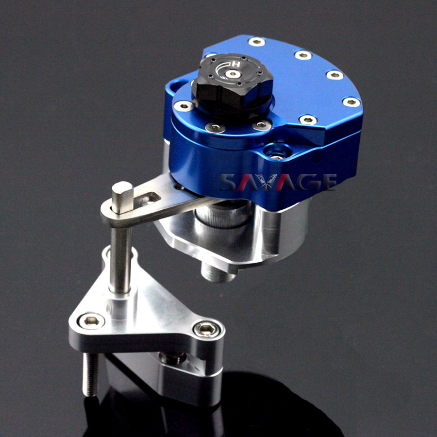 For YAMAHA YZF R25/R3 YZF-R3 YZF-R25 2014-2015 Blue Motorcycle Reversed Safety Steering Damper Stabilizer with Mount Bracket for yamaha yzf r25 yzf r3 2014 2015 motorcycle accessories steering damper gold