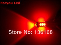 Free Shipping 4 Pieces 7443 Cree 80w Dual Filament Led Brake Light Lamp Red Color