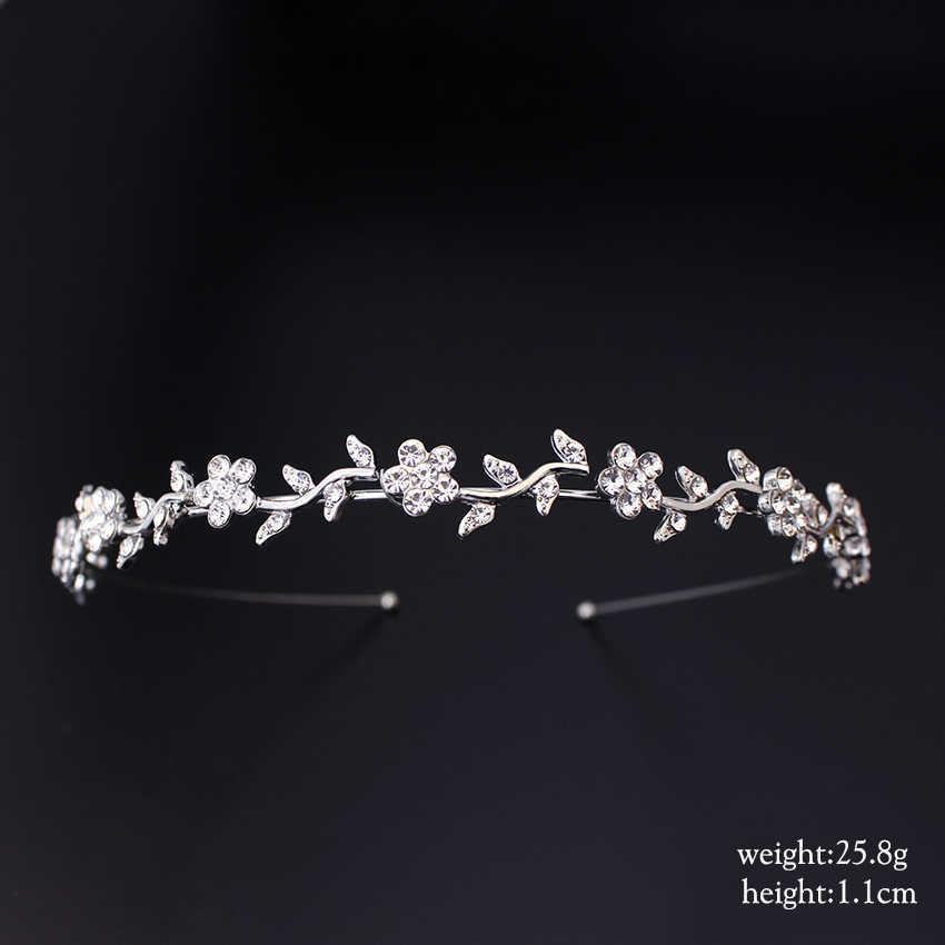Xinyun strass accessoires de cheveux de mariée femmes strass couronne Simple diadème de mariage bijoux de cheveux mariée cadeaux diadèmes de cheveux