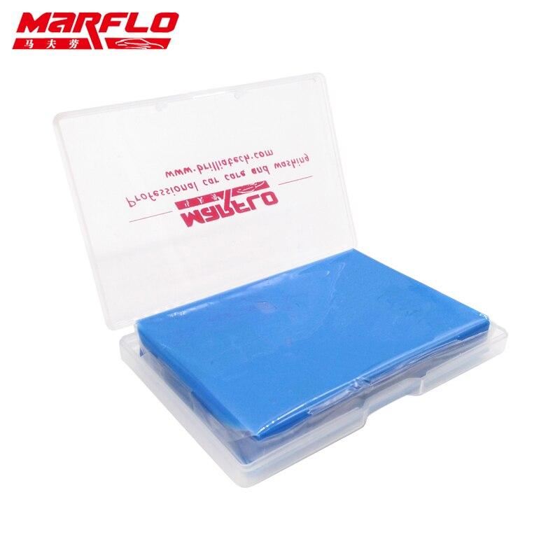 Marflo 1pc barra de argila mágica limpa barra de argila detalhamento automático mais limpo lavadora carro azul 100g
