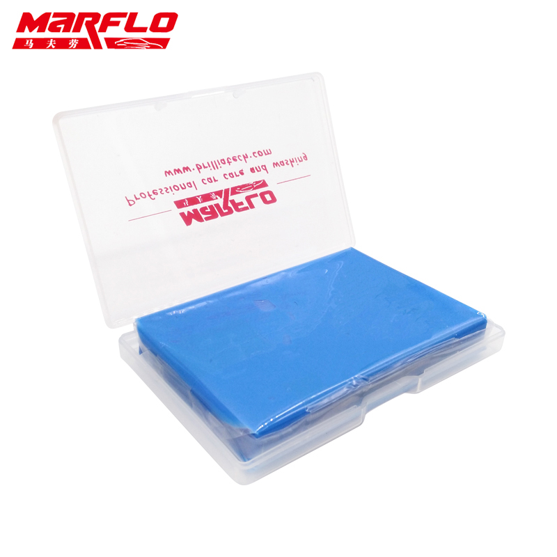 MARFLO 1pc Magic Clay Bar  Clean Clay Bar Auto Detailing Cleaner Car Washer Blue 100g