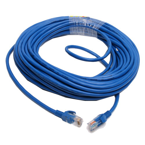 F06617 15M CAT5E CAT5 RJ45 Ethernet Internet Network Patch Lan Cable Cord Blue M/M for Networks WiFi Router