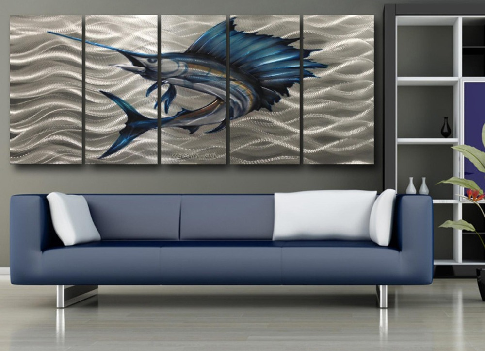 Popular metal fish art wall decor buy cheap metal fish art for Fish metal wall art