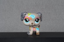 New font b pet b font Genuine Original LPS 2344 Sparkle Shimmer Shine Glitter Grey Dalmatian