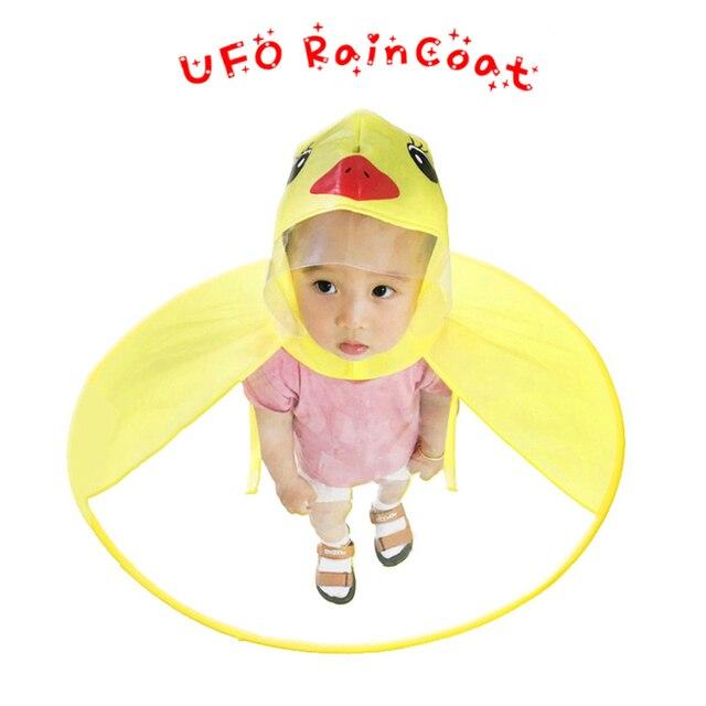Детский плащ Милая желтая утка водонепроницаемый чехол от дождя для детей чехол зонтика девочка мальчик куртка Детское Пончо плащ шляпа XX8