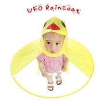 Childrens Raincoat Cute Yellow Duck Rain Cover Waterproof for Kids Umbrella Girl Boy Jacket Child Poncho Cloak Hat XX8