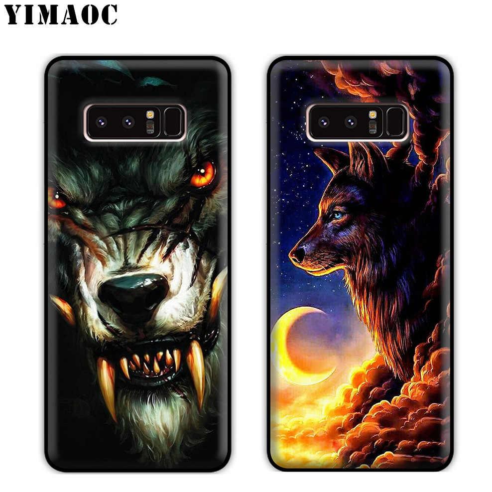 Yimaoc Serigala Art Cool Silikon Lembut Case untuk Samsung Galaxy S10 S10e S9 S8 Plus S7 S6 Edge J6 Cover