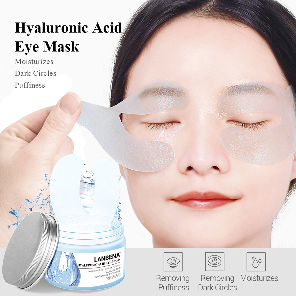 LANBENA Hyaluronic Acid Eye Mask Eye Patch Eye Care Reduces Dark Circles Bags Eye Lines Ageless Lifting Firming Skin Care 50PCSLANBENA Hyaluronic Acid Eye Mask Eye Patch Eye Care Reduces Dark Circles Bags Eye Lines Ageless Lifting Firming Skin Care 50PCS