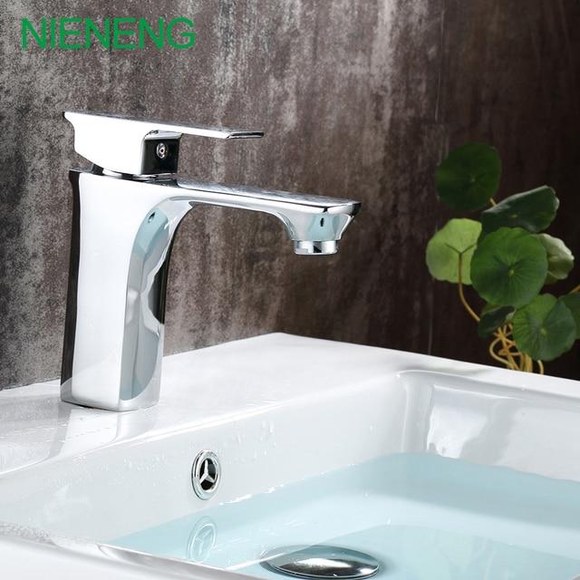 NIENENG Bad Mischer Kupfer Chrom Wasserhahn Waschtischarmaturen Toilette WC  Wasserhahn Bad Wasser Schrank Toilette Wasserhähne Großhandel
